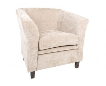Sherlock Mink Fabric Tub Chair