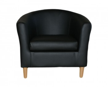 Hamlet Black Faux Leather Tub Chair