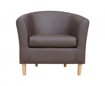 Hamlet Brown Faux Leather Tub Chair
