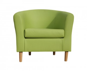 Hamlet Lime Faux Leather Tub Chair