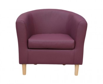 Hamlet Plum Faux Leather Tub Chair