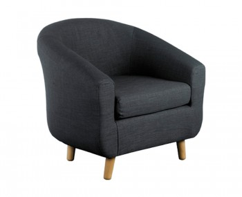 Rita Charcoal Fabric Tub Chair