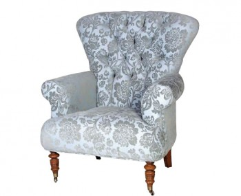 Chatsworth Blue Deep Buttoned Armchair