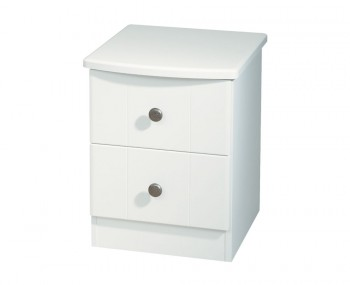Amazon White 2 Drawer Bedside Chest