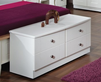 Amazon White 4 Drawer Bed Box