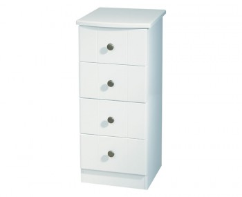 Amazon White 4 Drawer Narrow Chest