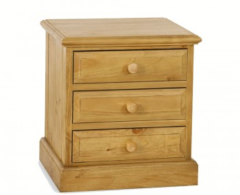Melville Pine 3 Drawer Bedside Chest