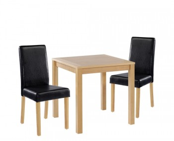 Foxton Oak Small Black Kitchen Set
