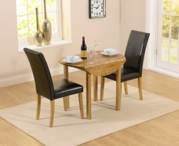 Hainton Round Drop Leaf Black Dining Set
