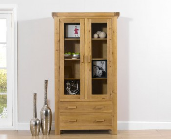Rivoli Oak Glazed Display Cabinet