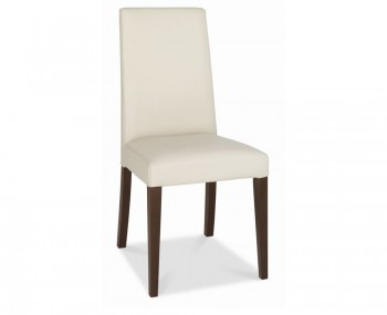 Akita Tapered Ivory Faux Leather Dining Chairs