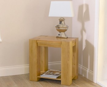 Ancaster Oak Lamp Table