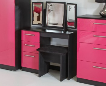 Kati Pink Girls Single Dressing Table