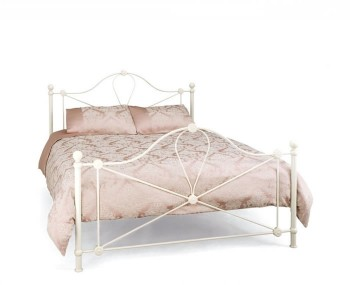 Lyon Ivory Metal Bed Frame