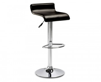 Stratos Brown Faux Leather Gas Lift Bar Stool