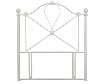 Lyon Ivory Childrens Metal Headboard