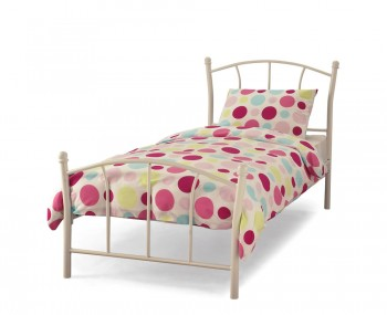 Penelope White Metal Bed Frame