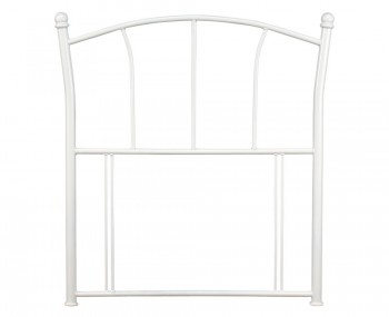 Penelope Antique White Childrens Metal Headboard