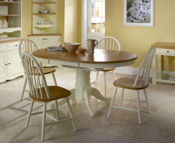 Weald Wooden Oval Extending Dining Set