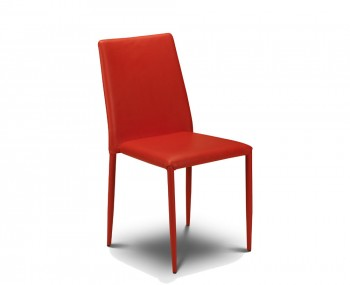 Jazz Red Faux Stacking Dining Chair
