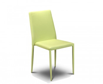 Jazz Green Faux Stacking Dining Chair