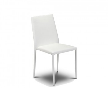 Jazz White Faux Stacking Dining Chair