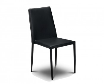 Jazz Black Faux Stacking Dining Chair