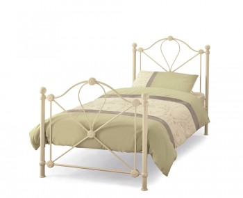 Lyon Childrens Ivory Metal Bed