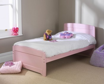 Rainbow Childrens Pink Bed Frame