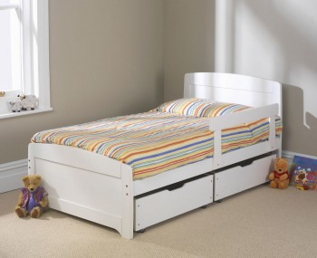 Rainbow Childrens White Bed Frame