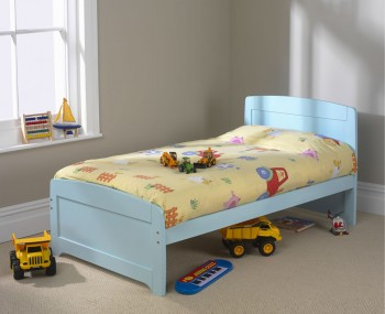 Rainbow Childrens Blue Bed Frame