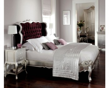 Majorelle Boutique Silver Wooden Bed