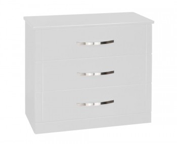 Dari White High Gloss 3 Drawer Chest