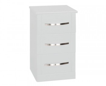 Dari White High Gloss Bedside Chest