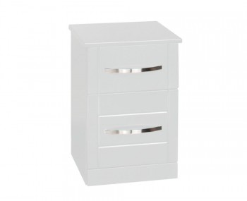 Dari White High Gloss Bedside Cabinet