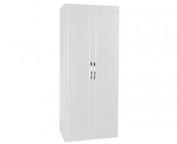 Dari White High Gloss 2 Door Tall Wardrobe