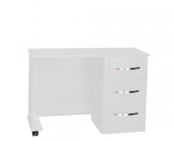 Dari White High Gloss Single Dressing Table