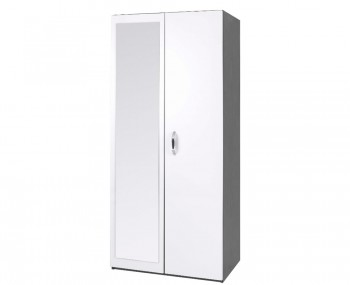 Tempo 2 Door High Gloss Wardrobe with Mirror