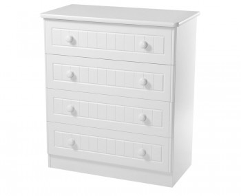 Warwick Childrens White 4 Drawer Chest