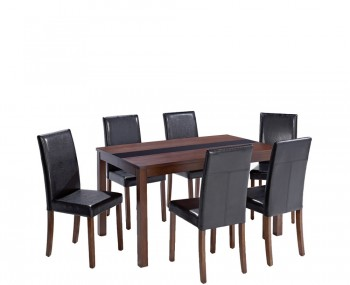 Brisbane Walnut Large Dining Table and Chairs