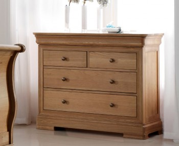 Nancy Oak 2+2 Drawer Low Chest
