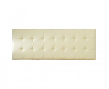 Romeo Cream Faux Leather Headboard