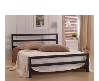 Colton Black Metal Bed Frame