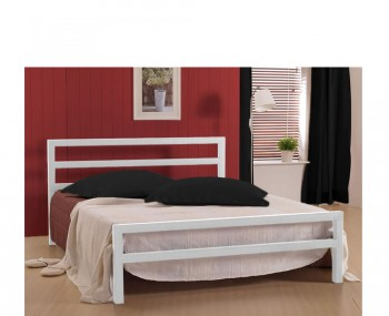 Colton White Metal Bed Frame