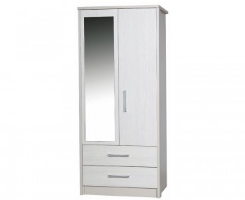 Hulsen 2 Door 2 Drawer Wardrobe with Mirror