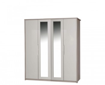 Hulsen 4 Door Wardrobe with Mirror