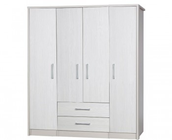 Hulsen 4 Door Combi Wooden Wardrobe