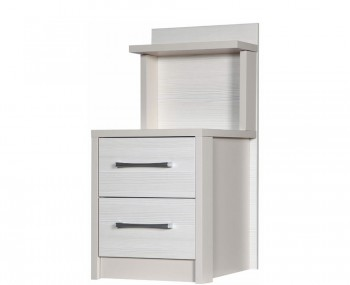 Hulsen 2 Drawer Bedside with Back Panel