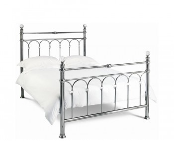 Krystal Nickel Metal Bedstead