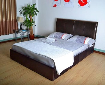 Indiana Brown Faux Leather Bed